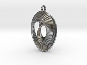 Mobius VII in Polished Silver