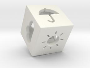 WeatherDiseA in White Premium Strong & Flexible: Small
