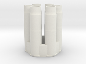Airsoft Revolver Shell, Multishot combined. in White Natural Versatile Plastic