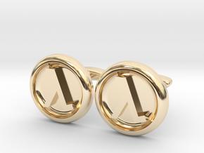 Half-Life Logo Cufflinks in 14K Yellow Gold