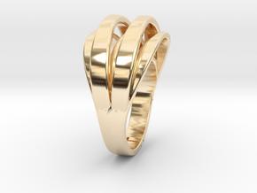 Sunlight on the finger in 14k Gold Plated Brass