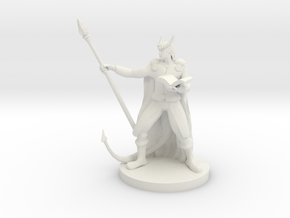 Tiefling Staff Wizard  in White Natural Versatile Plastic