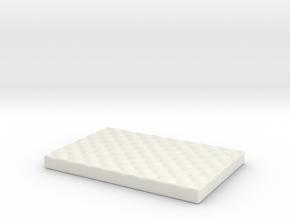 Medium Dog Bed various scales in White Natural Versatile Plastic: 1:24