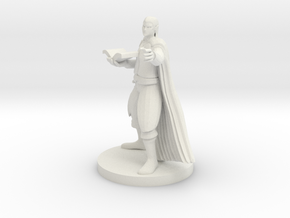 Half Elf Magic Caster in White Premium Versatile Plastic