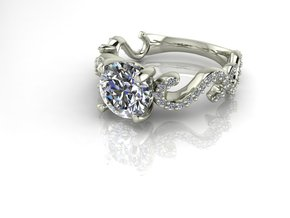 Filigree ring NO STONES SUPPLIED in Fine Detail Polished Silver
