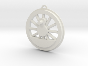 Steam Locomotive Drive Wheel Christmas Ornament in White Natural Versatile Plastic