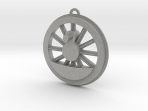 Steam Locomotive Drive Wheel Christmas Ornament in Metallic Plastic