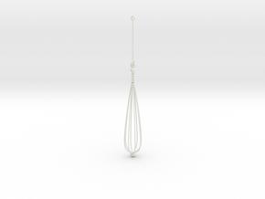 Orecchino Dipinto in White Premium Versatile Plastic