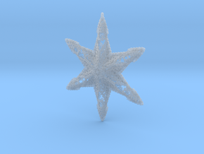 Snowflake A in Smooth Fine Detail Plastic