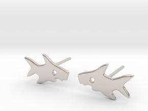 Shark Earring in Platinum