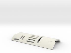 MHS Custom Chassis V1 A/B_PART_3 Hatch_1 in White Premium Versatile Plastic