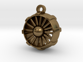 JetEngine Pendant in Natural Bronze: Small