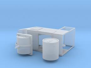 Straßenwalze mit Verdeck 1:87 H0 in Smooth Fine Detail Plastic