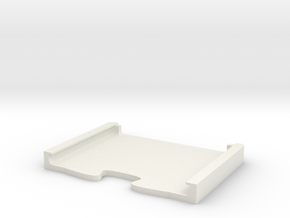 iPad_Mini_2_WITH_GLASS_Split_Case_Bottom in White Natural Versatile Plastic