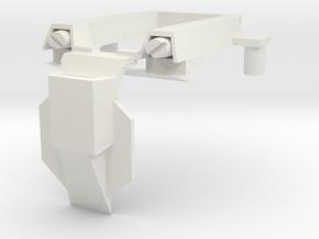 Titan Emperor's Chest Armor in White Natural Versatile Plastic