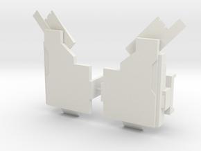 Titan Emperor's shoulder pads in White Natural Versatile Plastic