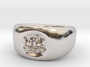 Libra Ring sz8 in Rhodium Plated Brass