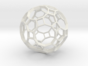TRUNCATED_ICOSIDODECAHEDRON in White Natural Versatile Plastic