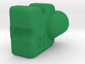KregDustShroud (Festool -right handed) in Green Processed Versatile Plastic