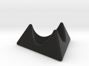 Klingon egg cup holder in Black Natural Versatile Plastic