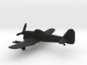 Hawker Typhoon in Black Natural Versatile Plastic: 1:160 - N