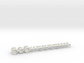 Stadtmöbelset 1 DDR 26 Teile 1:76 in White Natural Versatile Plastic