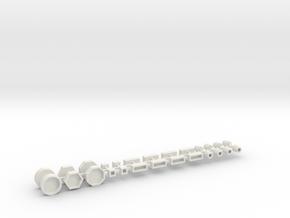 Stadtmöbelset 1 DDR 26 Teile 1:72 in White Natural Versatile Plastic