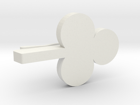 Chika Takami Clover Hair Pin in White Natural Versatile Plastic