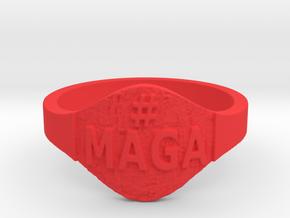 Maga Hashtag Ring in Red Processed Versatile Plastic: 9 / 59