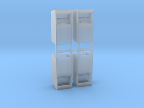 Altkleidercontainer 4er Set 1:100 in Smooth Fine Detail Plastic