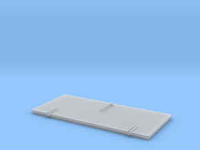 door standard 44,5x21mm in Smooth Fine Detail Plastic