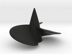 Single left hand ship propeller f. Bismarck/Tirpi in Black Premium Versatile Plastic