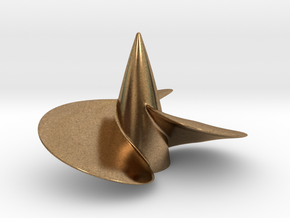 Single left hand ship propeller f. Bismarck/Tirpi in Natural Brass