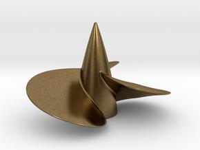 Single left hand ship propeller f. Bismarck/Tirpi in Natural Bronze