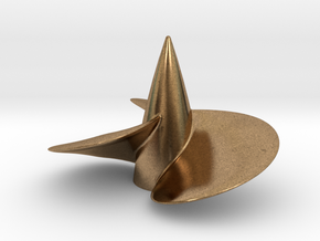 Single right hand ship propeller f. Bismarck/Tirpi in Natural Brass
