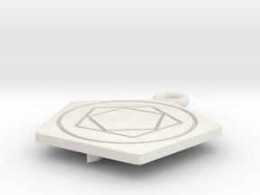 Fullmetal alchemist brotherhood Keychain in White Natural Versatile Plastic