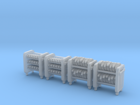 N Scale Fire Station Carts in Smooth Fine Detail Plastic