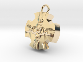 ColorP in 14k Gold Plated Brass: Small