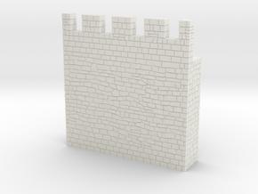 HOF031 - Castle wall 1 in White Natural Versatile Plastic