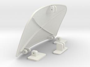 Air-dam-assy-1to16 in White Natural Versatile Plastic