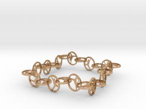 Yoga Jewelry   in Natural Bronze (Interlocking Parts)