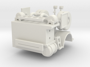 1/64 Tiller Tractor rear section in White Natural Versatile Plastic