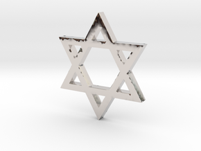Jewish Star (Hexagram) in Platinum