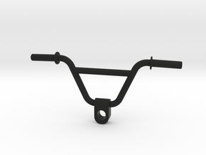 BMX Handlebar Keychain in Black Natural Versatile Plastic