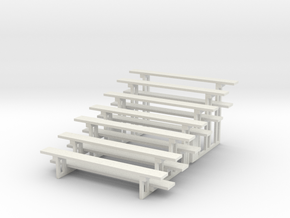 Printle Thing Bleachers x 2 Vertical - 1/24 in White Natural Versatile Plastic
