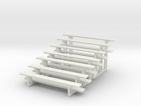 Printle Thing Bleachers x 2 Vertical - 1/24 in White Natural Versatile Plastic