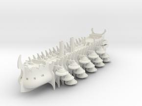 Trireme Airship Argo in White Natural Versatile Plastic: 1:700