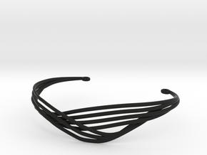 Cecilie Cuff Bracelet in Black Premium Versatile Plastic