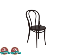 Miniature Thonet No 18 Chair - Thonet in White Strong & Flexible: 1:24