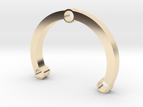 R-type 66 Round in 14k Gold Plated Brass